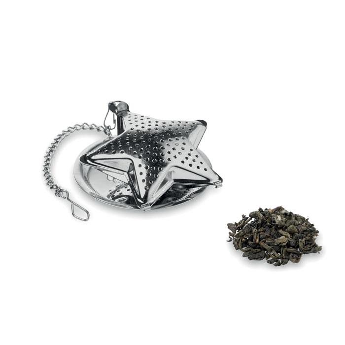Filtro té en forma estrella. Regalos promocionales y reclamos publicitarios