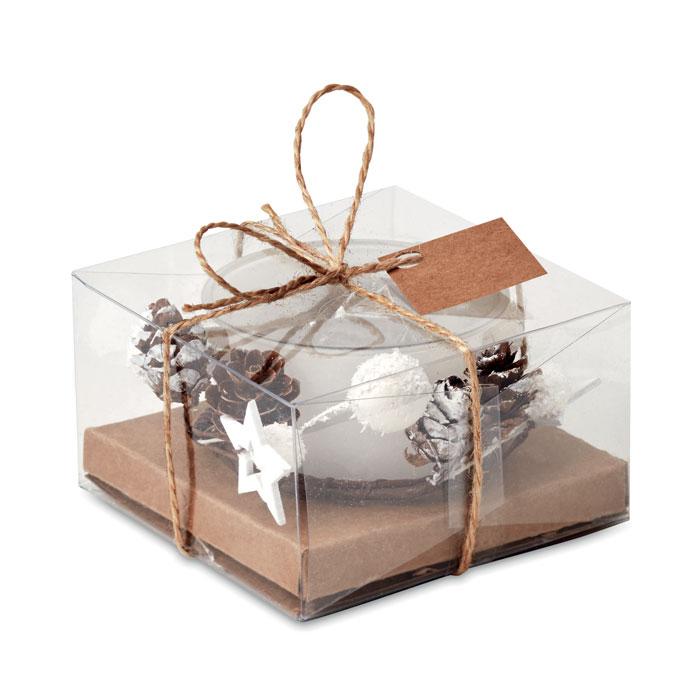 Portavelas navideño   . Regalos promocionales y reclamos publicitarios