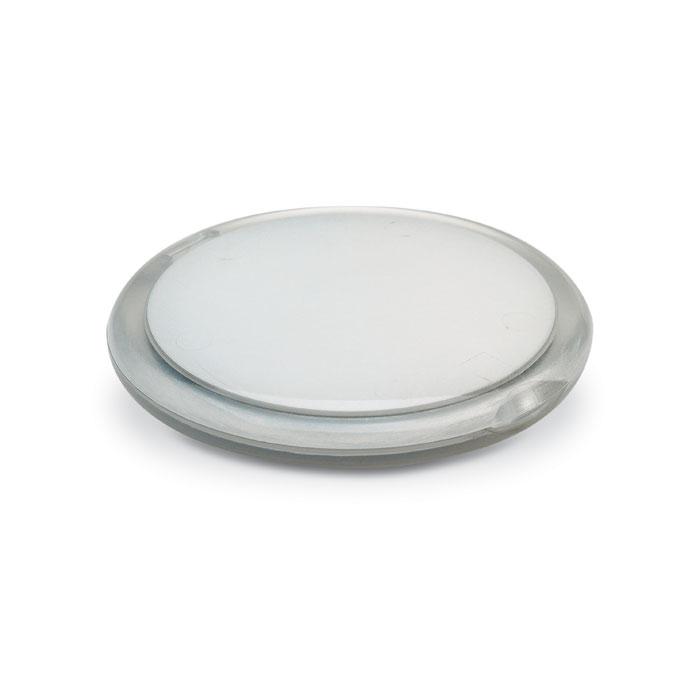 IT3054 22 Dubbele spiegel (rond) relatiegeschenk bedrukken transparant lime