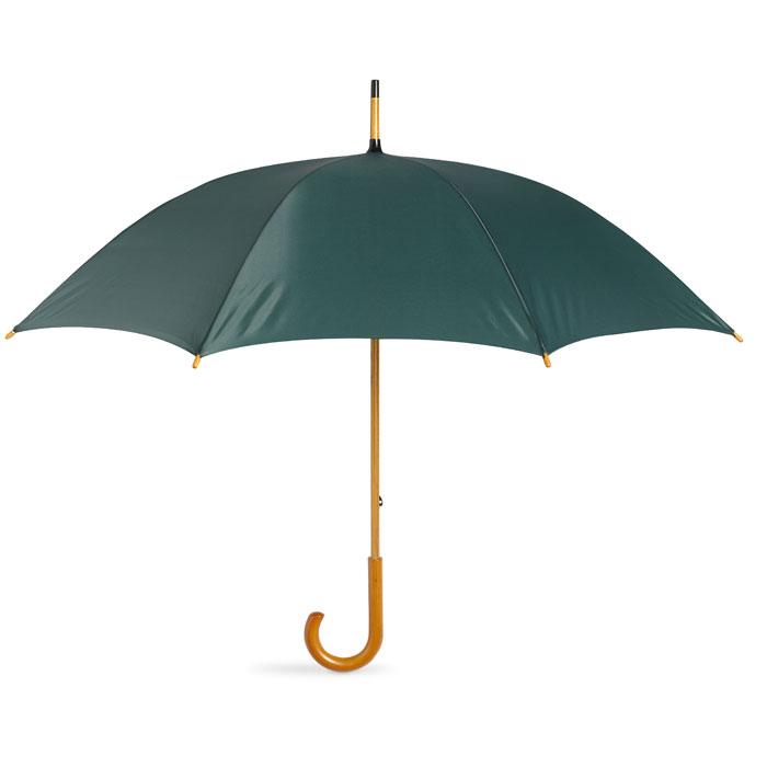 Paraguas con mango madera. Regalos promocionales y reclamos publicitarios