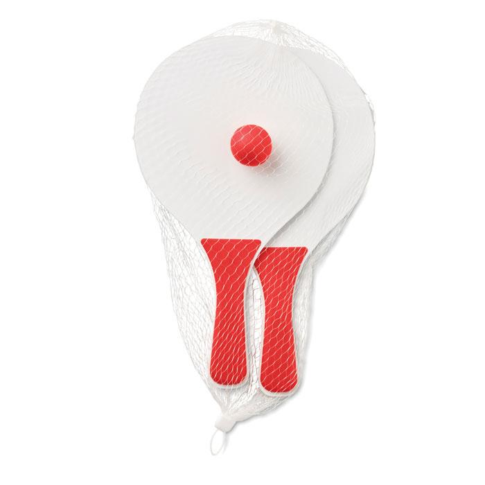 Set pequeño raquetas. Regalos promocionales y reclamos publicitarios