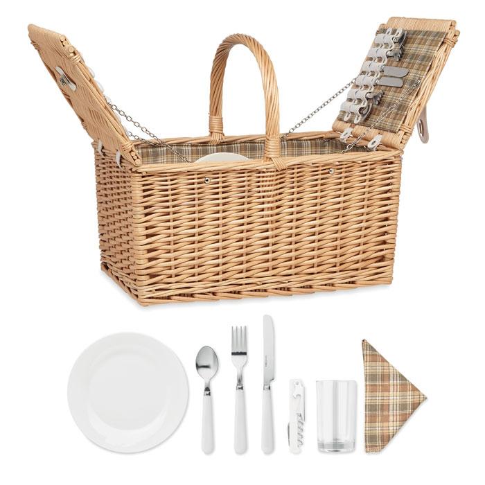 Cesta picnic 4 personas. Regalos promocionales y reclamos publicitarios