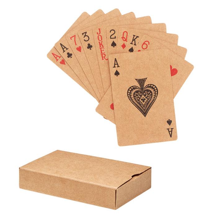 Baraja cartas papel reciclado. Regalos promocionales y reclamos publicitarios