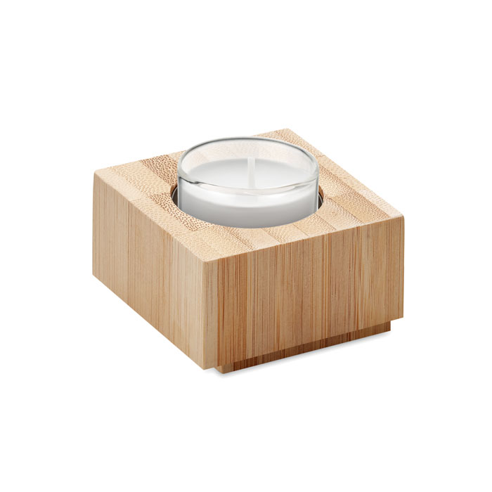 Porta velas bambú        . Regalos promocionales y reclamos publicitarios