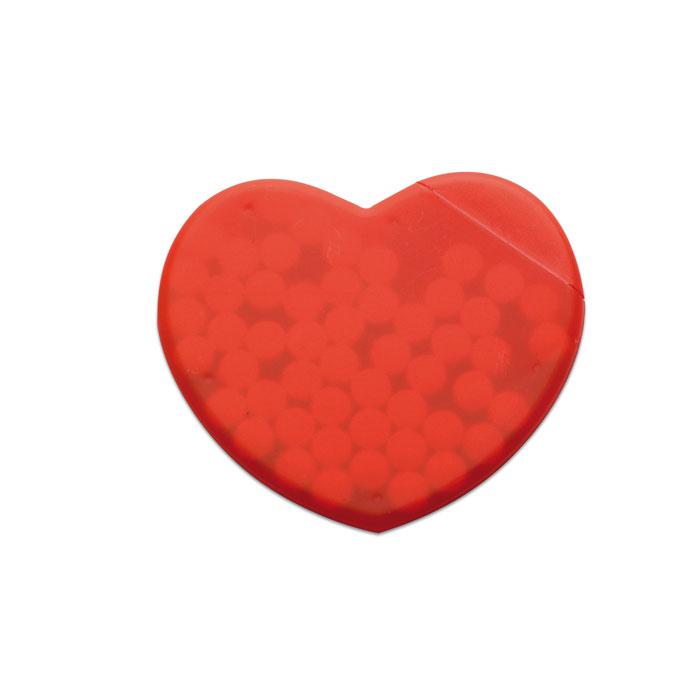 Caja corazón caramelos    . Regalos promocionales y reclamos publicitarios
