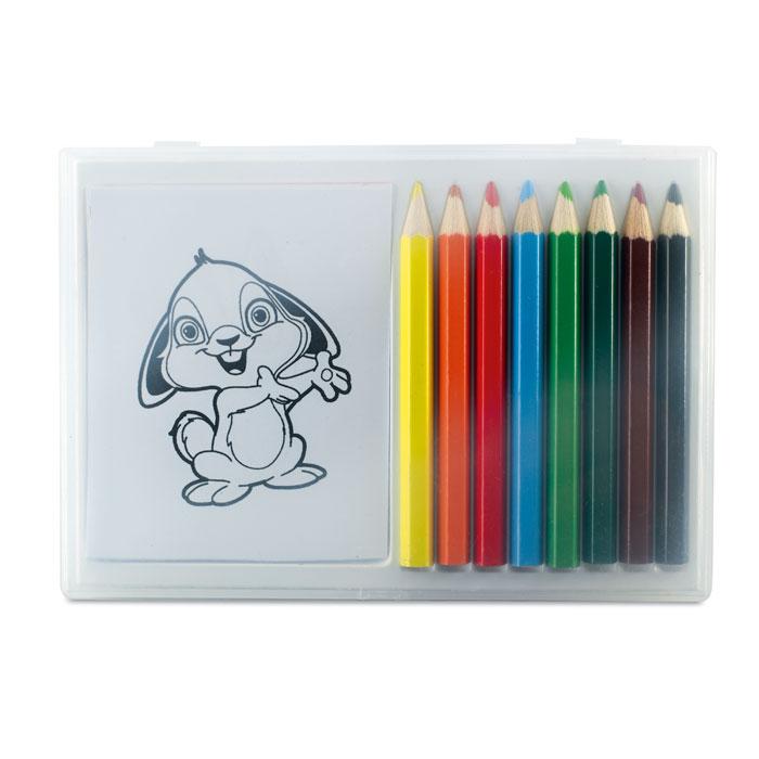 Set lápices colores    . Regalos promocionales y reclamos publicitarios