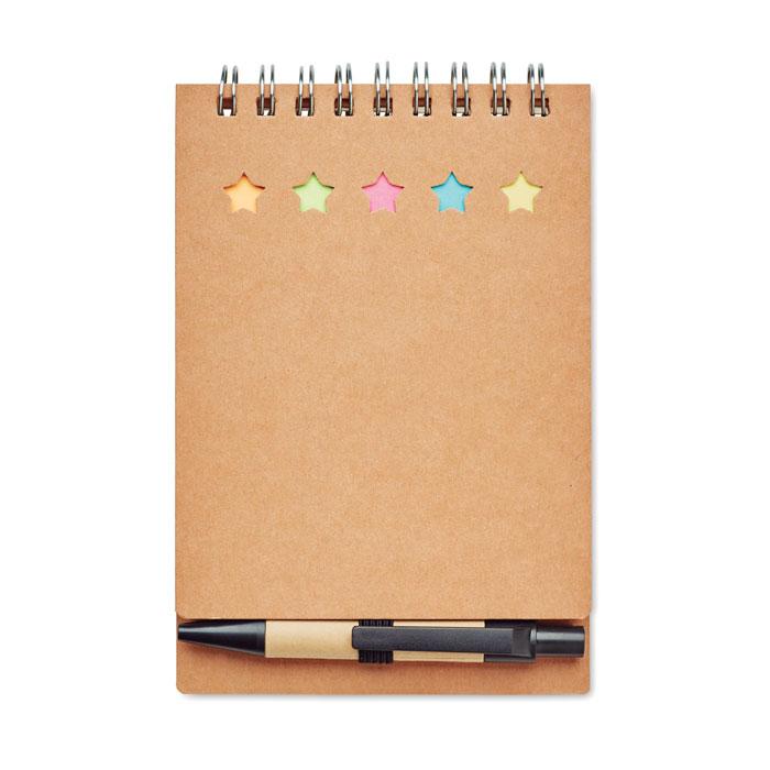 Notitieboekje met balpen MO8107-13 beige