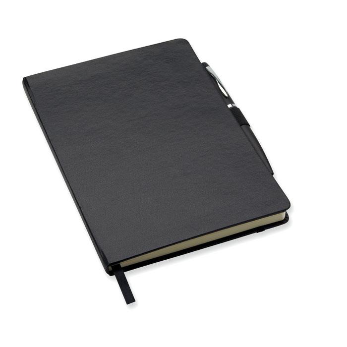 Libreta A5 con bolígrafo     . Regalos promocionales y reclamos publicitarios