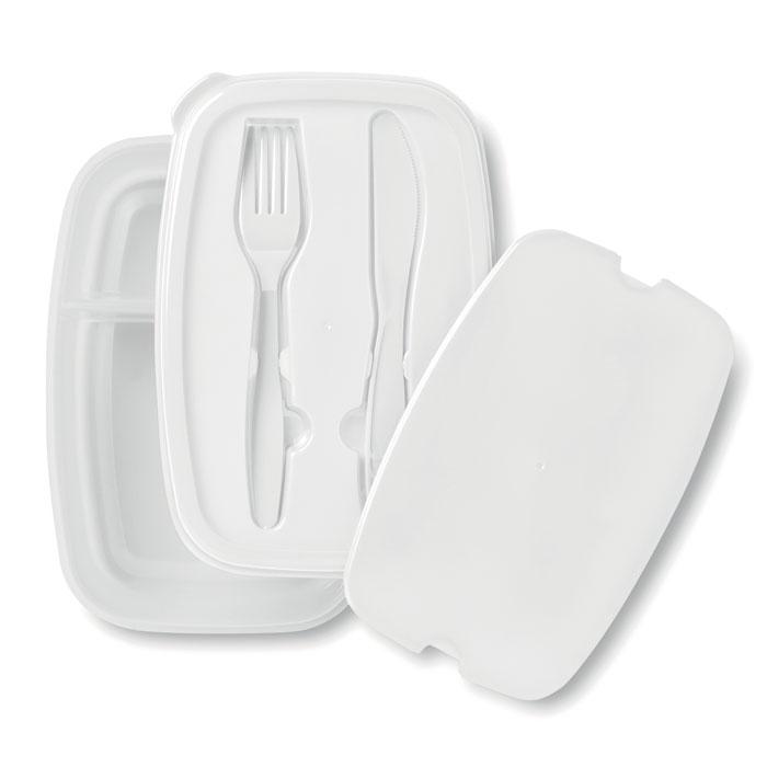 Fiambrera dos compartimentos, Cocina y mesa