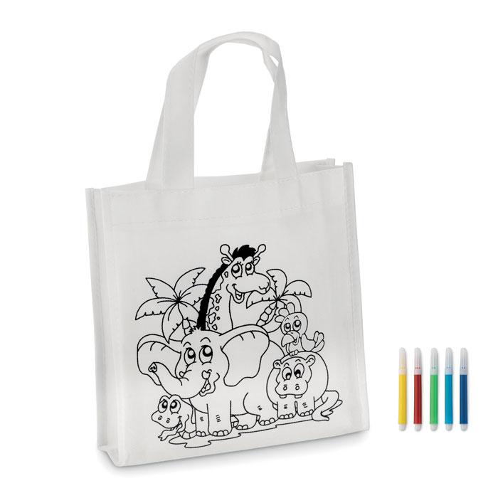 Mini bolsa colorear     . Regalos promocionales y reclamos publicitarios