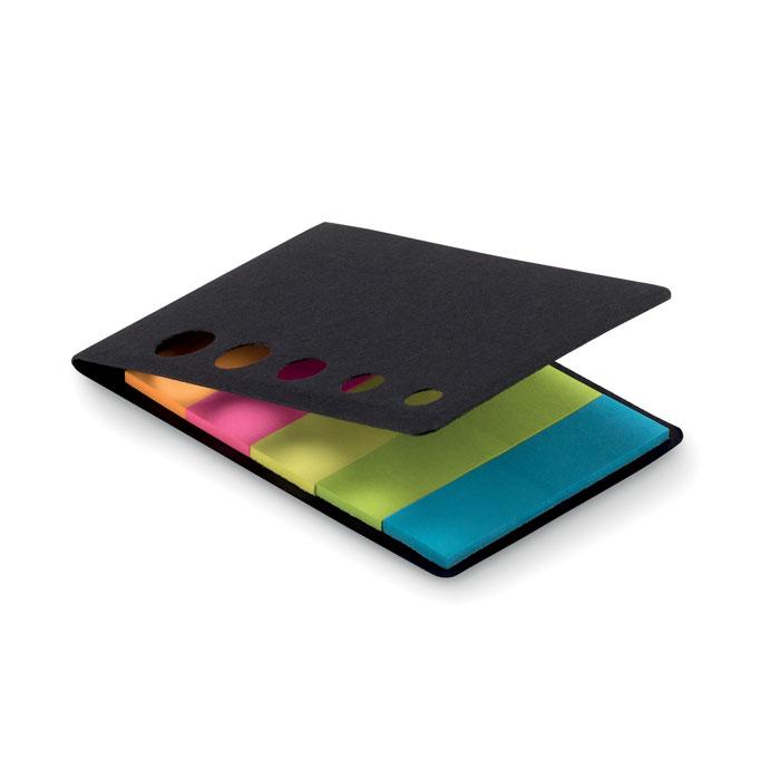 Notas adhesivas 5 colores    . Regalos promocionales y reclamos publicitarios
