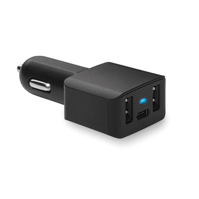 Cargador coche USB/ tipo-C. Regalos promocionales y reclamos publicitarios