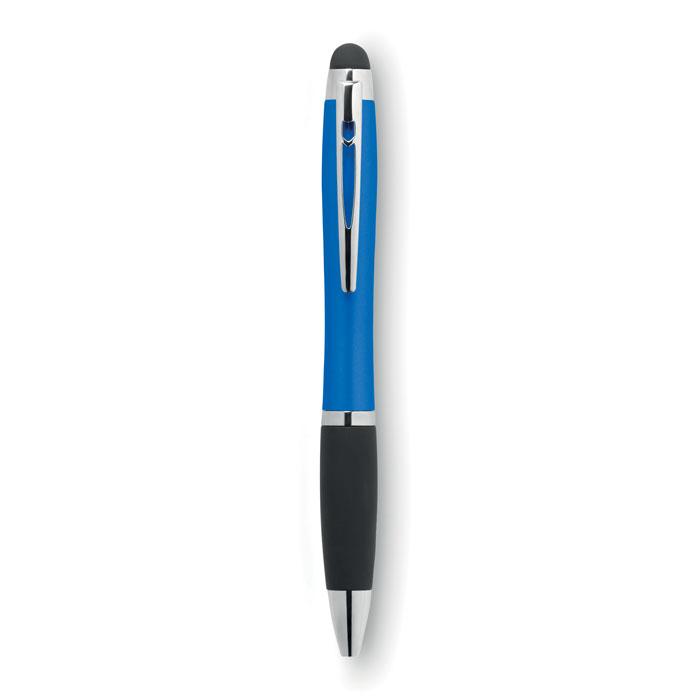 Bolígrafo giratorio con luz   . Regalos promocionales y reclamos publicitarios