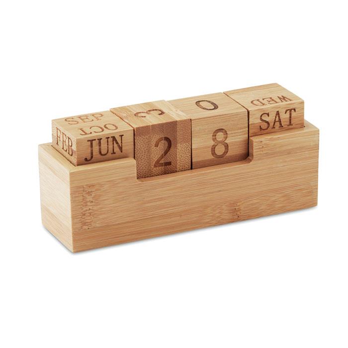 Calendario bambú          . Regalos promocionales y reclamos publicitarios
