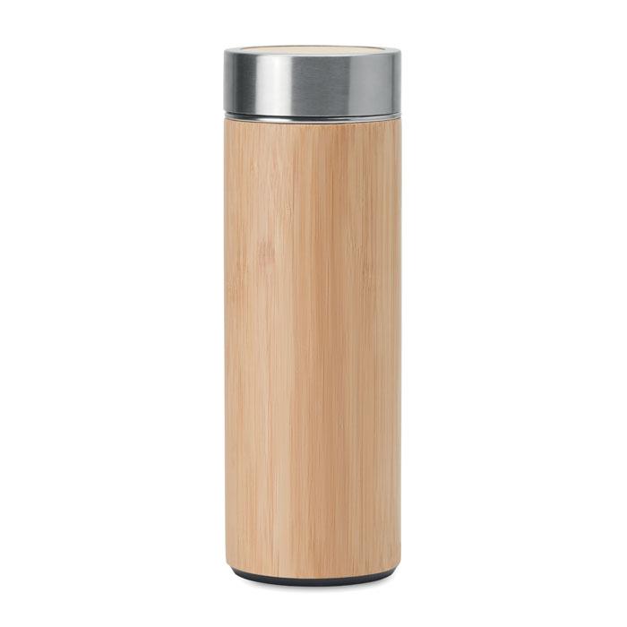 Termo bambú doble capa. Regalos promocionales y reclamos publicitarios
