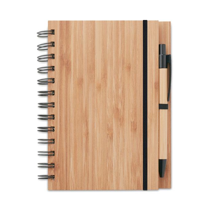 Libreta bambú             . Regalos promocionales y reclamos publicitarios