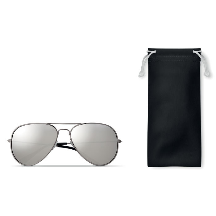 Gafas sol funda microfibra. Regalos promocionales y reclamos publicitarios