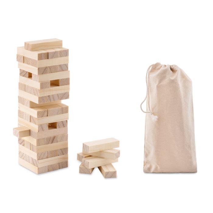 Juego torre madera        . Regalos promocionales y reclamos publicitarios