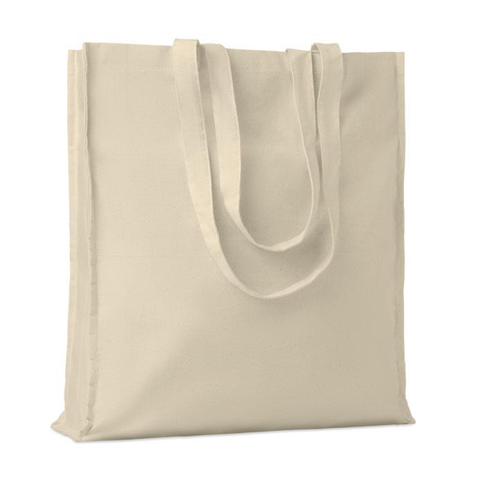 Bolsa algodón con fuelle 140gr. Regalos promocionales y reclamos publicitarios