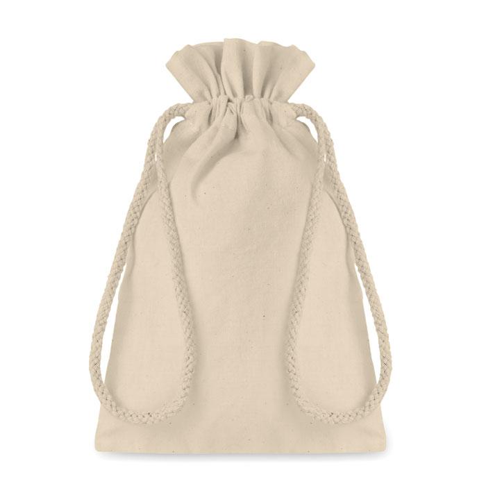 Bolsa algodón pequeña     . Regalos promocionales y reclamos publicitarios