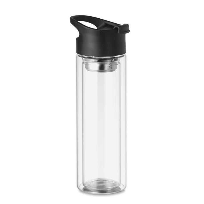 Botella cristal doble .capa. Regalos promocionales y reclamos publicitarios