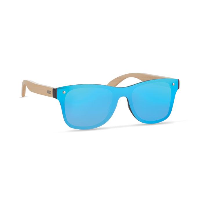 Gafas sol patillas bambú   . Regalos promocionales y reclamos publicitarios