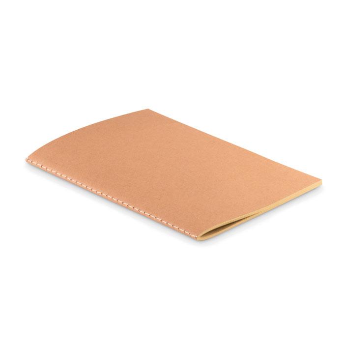 Libreta A5 con tapa papel. Regalos promocionales y reclamos publicitarios