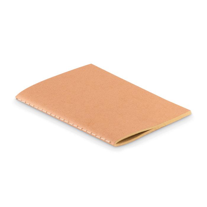 Libreta A6 con tapa papel. Regalos promocionales y reclamos publicitarios